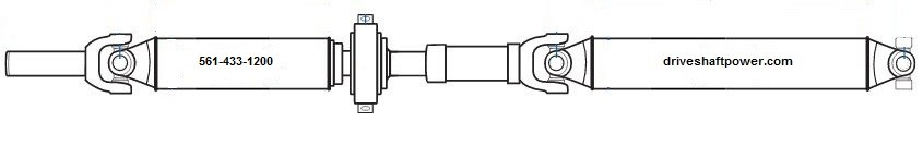 P# 15044232 Chevy Silverado 1500/GMC Sierra 1500 2WD Rear Drive Shaft (See Fitment in Description)